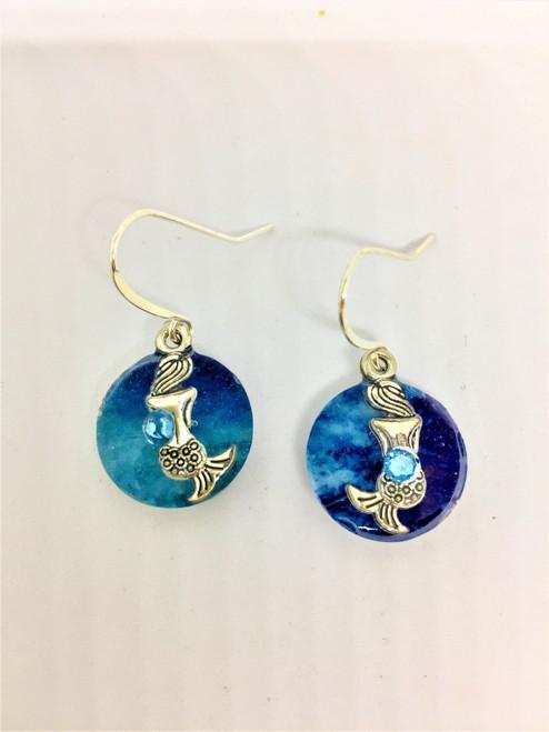 Summer Days 16 mm Mermaid Earrings