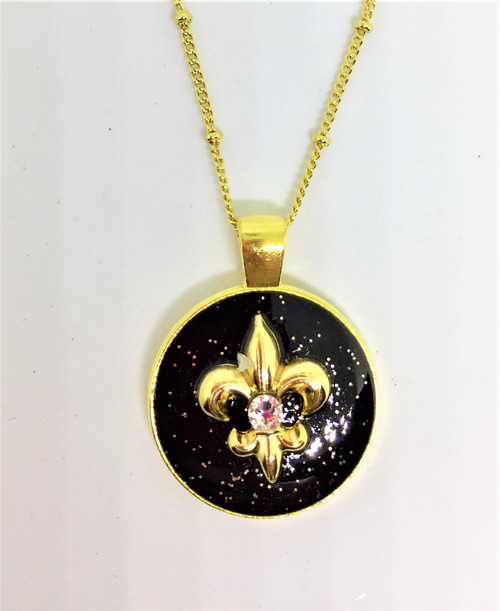 """Popular Kathy style 1"""" Circle Pendant on 26"""" Gold plated chain"""