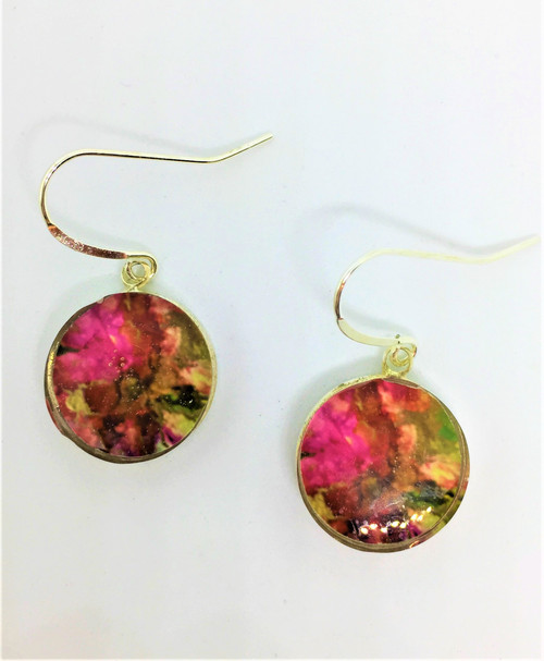 Add this 16 mm Dangle  for a colorful accessory to your wardrobe/ Wear  dress or casual