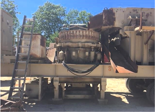 1352 Nordberg Omnicone portable crusher and screen
