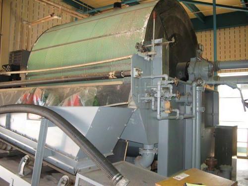 10 x 10 ft (3.2 x 3.2 m) Eimco Rotary Drum Vacuum Filter