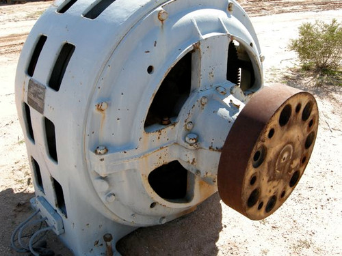 500 HP GE Wound Rotor Induction Motor, 450 RPM