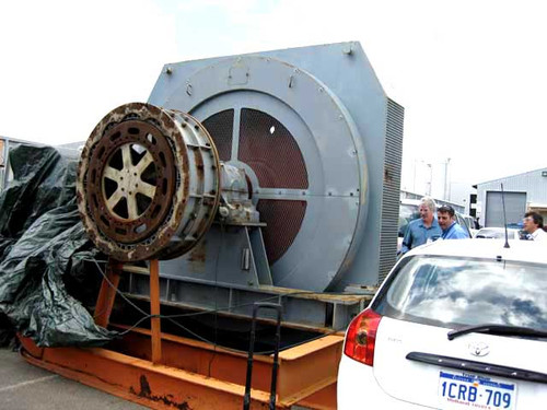2,500 HP General Electric Synchronous Motor, 180 RPM