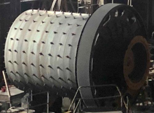 12.1 x 15.2 ft Allis Chalmers rod mill