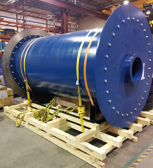 1.5 x 3 m (~5 x 10 ft) New ball mill