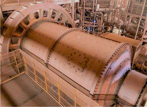 14 x 23 ft FLS ball mill with 3,000 HP