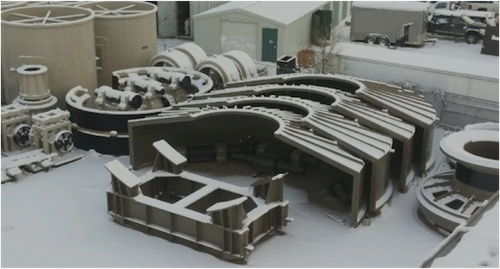32 x 12 ft Hardinge Koppers SAG Mill 6800 HP