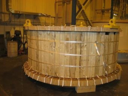 Unused 36 x 23 ft Metso SAG mill with 20,100 HP