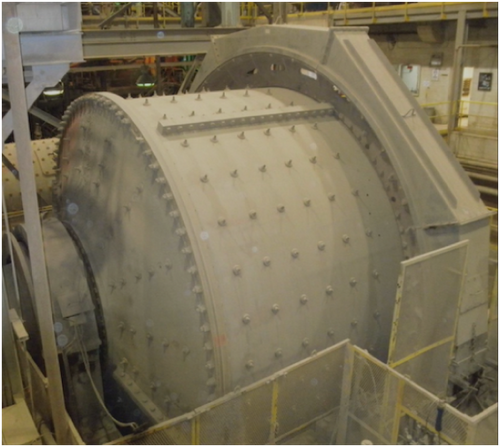 18 x 10.5 ft Fuller SAG mill with 1,500 HP