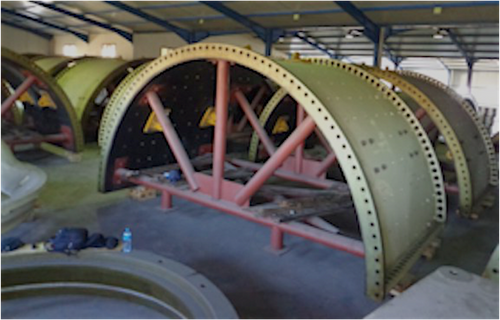 36 x 20.5 ft Unused Metso SAG Mill with 20,100 HP Gearless Drive