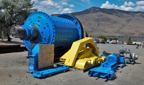 8 x 10 ft (2.5 x 3 m) Allis Chalmers ball mill with 400 HP