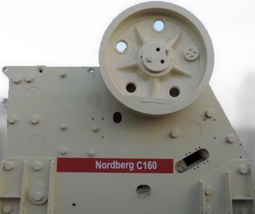 47 x 63 in Metso Nordberg C160 jaw crusher
