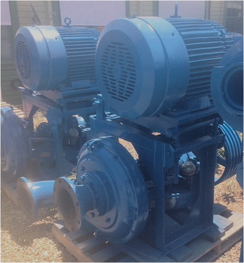 Type B-6-6 Ash Pump with 100 HP (74 kW) motor