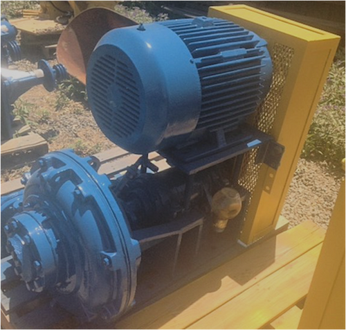 Type A-6-6 Ash pump with 25 HP (18 kW) motor