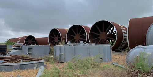 15 x 240 ft Unused Metso surplus rotary kiln