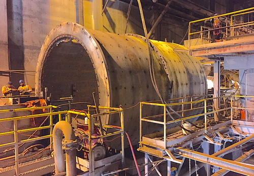 15 x 19 ft (4.5 x 5.8 m) Nordberg Ball Mill with 3,000 HP