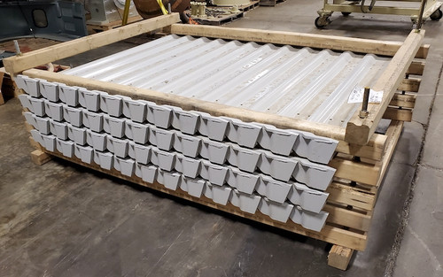 New apron feeder pans package