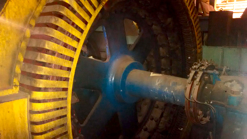 5,000 HP (3730 kW) General Electric Synchronous Motor