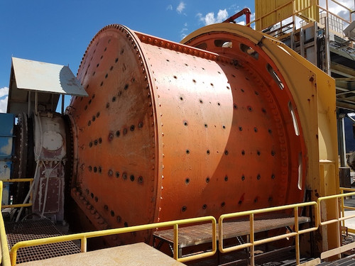 21 x 11 ft Hardinge SAG mill with 2,875 HP