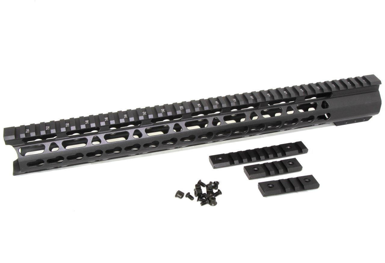 165 Ultra Light Super Slim Keymod Handguard Free Float Clamp On