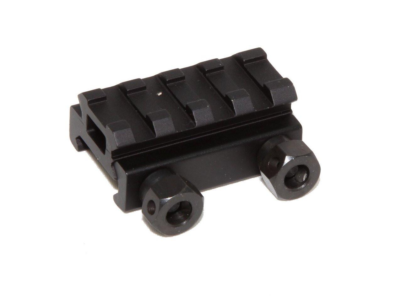 "1//2 /""3 Slot Low Weaver//Picatinny Rail Riser For Elevating Scope Sights 20mm Base"