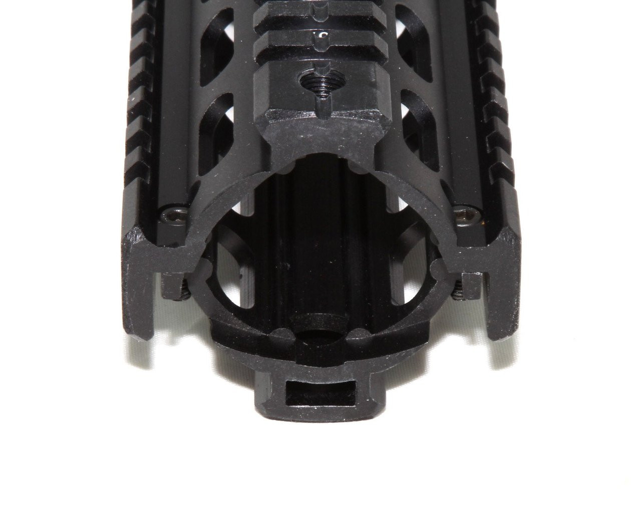 """9/"""" Mid Length Two Piece Drop In Quad Rail Handguard Fit Round End Cap 223 556"""