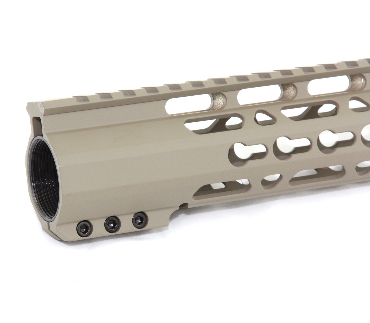 "223 15/"" inch ULTRA SLIM Super Slim Keymod handguard Free Float TAN"