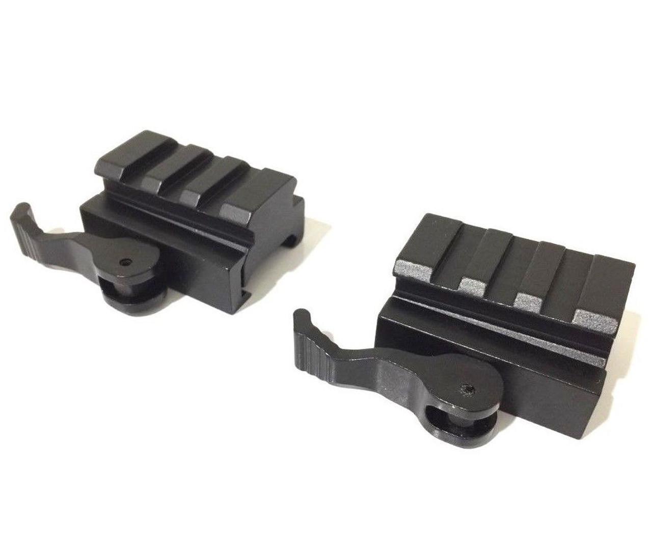 Medium 3 Slots Riser Sight Rifle Scope QD 20mm Picatinny Rail Sturdy Riser Mount