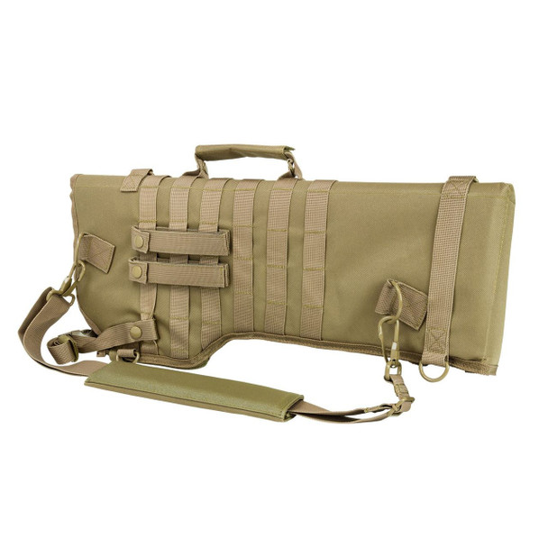 Rifle/Carbine Over Shoulder Modular MOLLE Gun Scabbard TAN