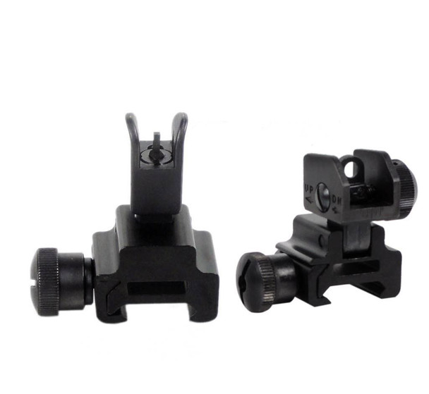 Front and Rear Flip Up Backup Iron Sight AR15 223 5.56