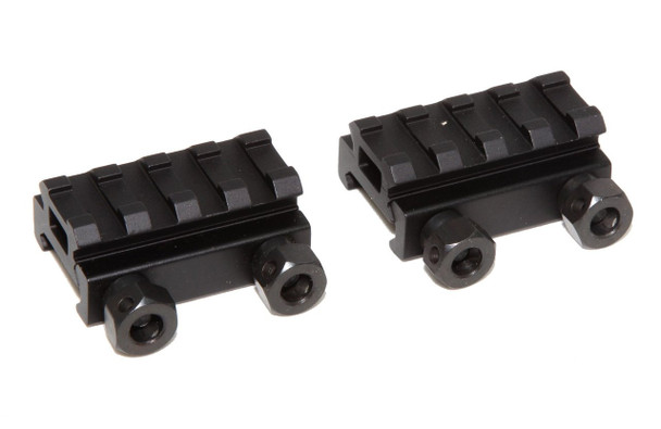 "2X 1/2"" RISER 4-Slot Low Riser WEAVER PICATINNY Scope Mount Rail AR15 223 5.56"