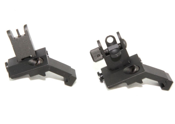Front and Rear Flip Up 45 Degree Offset Rapid Transition Backup Iron Sight  AR15 223 5.56