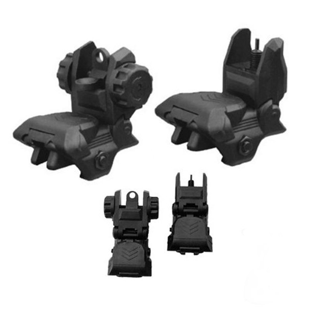 Polymer Front and Rear Flip Up Iron Sight AR15 223 5.56