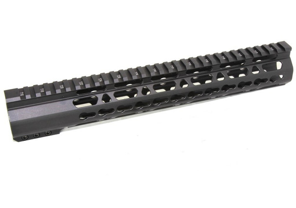 "12.5"" Super Slim Keymod Handguard Free Float Clamp On Handguard style AR15 223 5.56"