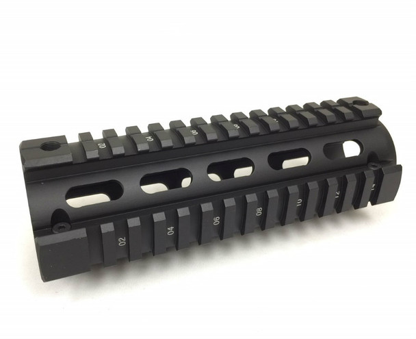 "6.7"" Carbine Length  Quad Rail Handguard 2 Piece Drop In AR15 223 5.56"