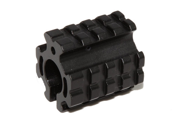 "Gas Block .75"" Gas Block Low profile Quad Rail Clamp-on Gas Block"