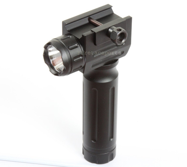 400 Lumens Aluminum LED Fore Grip Foregrip Weaver Picatinny Strobe Flashlight