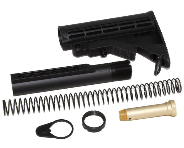 STOCK KIT BUFFER TUBE 6-POSITION KIT MIL SPEC FOR CARBINE STOCK AR15 223 5.56