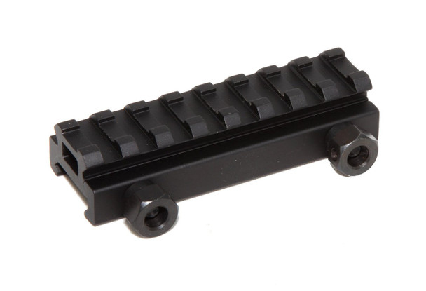 "1/2"" RISER 8-Slot Low Riser WEAVER PICATINNY Scope Mount Rail AR15 223 5.56, AR15 Handguard"