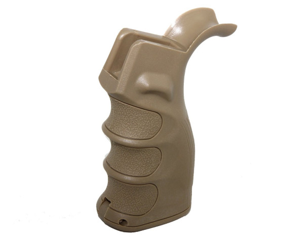 Ergonomic Pistol Grip w/Finger Grooves Storage Compartment TAN AR15 223 5.56 (GP2)