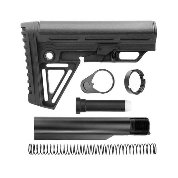 Alpha Carbine stock Complete Kit Black color AR15 223/5.56