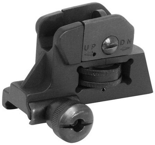 Detachable REAR SIGHT Fully Metal w/ Dual Aperture A2 AR15 223 5.56