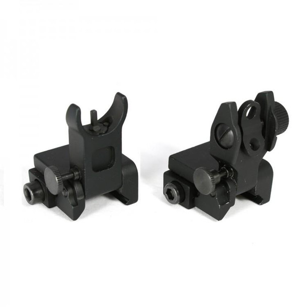 Premium Front and Rear Flip Up Iron Sight AR15 223 5.56