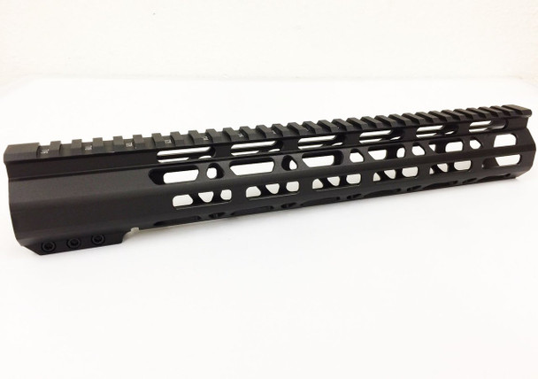 "12.5"" Ultra-Light Super Slim MLok Handguard Free Float AR15 223 5.56 - Clamp on style"