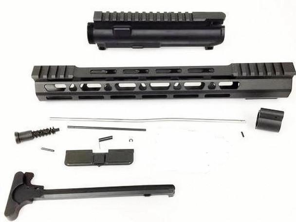 "Upper kit - 12.5"" Slim Mlok Handguard Free Float +upper receiver+gas tube+gas Block AR15 223 5.56"