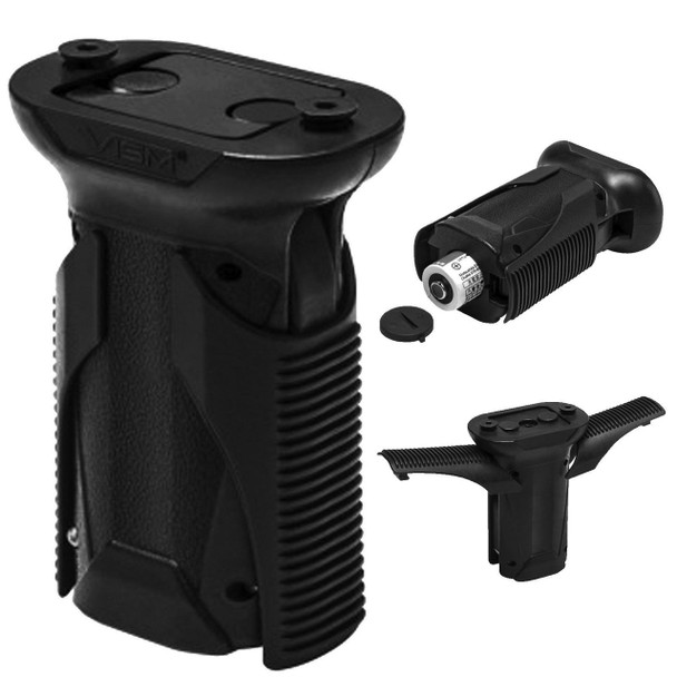 NcSTAR KEYMOD SHORT QUICK RELEASE VERTICAL GRIP (TWIST) - BLACK