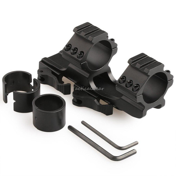 "Tactical Quick release QD 30mm/ 1"" insert One Piece Cantilever Scope Mount Top Rail - Black"