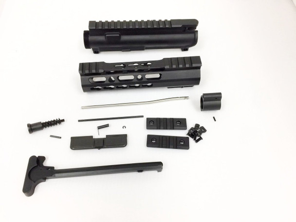 "Upper kit 7"" Slim Keymod Handguard Free Float +upper receiver+gas tube+gas Block AR15 223 5.56"