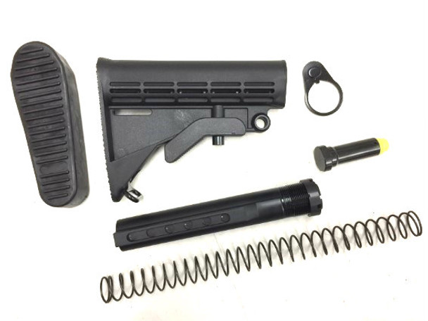 AR10 308 Mil spec Stock 6-Position Buffer Tube Kit w/buttpad
