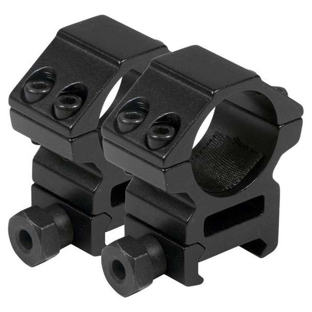"2PCS MEDIUM Profile 25.4mm 1"" Scope Rings 20mm Picatinny Weaver Rail Mount"